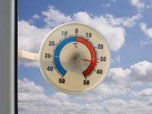 Plastic thermometer Stock Foto's