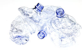 Plastic. Three isolated plastic bottle ready for the recycling Stock Image