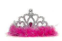 Plastic tiara on white background royalty free stock photo