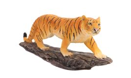 Plastic tiger figurine. Stock Photo