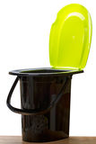 Plastic toilet bucket Royalty Free Stock Photography