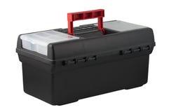 Plastic tool box. Plastic tool box isolated on white background royalty free stock image