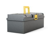 Plastic tool box isolated on white background. 3d rendering.  Royalty Free Stock Images