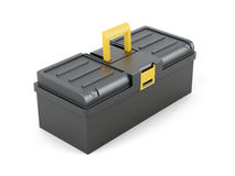 Plastic tool box on white background. 3d rendering Stock Photos