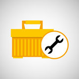 Plastic tool box wrench icon. Vector illustration eps 10 Royalty Free Stock Photography