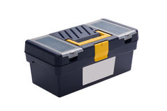 Plastic toolbox dichte omhooggaand Stock Afbeelding