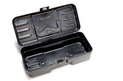 Plastic toolbox opened Stock Photos