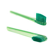 Plastic toothbrush isolated Royalty Free Stock Image