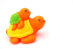 Plastic tortoise toys Stock Photography