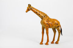 Plastic toy animals giraffe and elephant Stock Photos