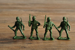 Plastic toy army figurines Royalty Free Stock Image