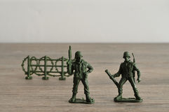Plastic toy army figurines Stock Photo