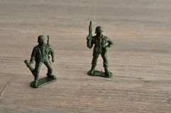 Plastic toy army figurines Stock Photography