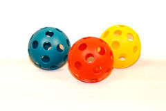 Plastic Toy Baseballs v1 Royalty Free Stock Photos