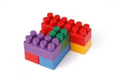Plastic toy blocks stock photo