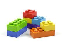 Plastic toy blocks. Stock Photography