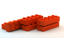 Plastic toy blocks Stock Photography