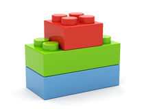 Plastic toy blocks. Stock Photo