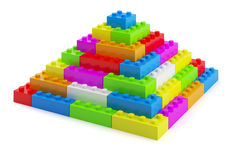 Plastic toy blocks pyramid Royalty Free Stock Photography