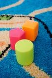 Plastic toy blocks Stock Images