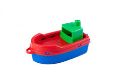 Plastic toy boat royalty free stock photo