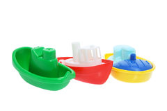 Plastic Toy Boats Stock Image