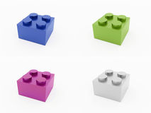 Plastic toy brick isolated on white Royalty Free Stock Image