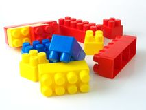 Plastic toy bricks Royalty Free Stock Photography