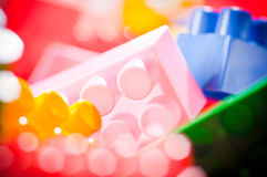 Plastic toy bricks Stock Image