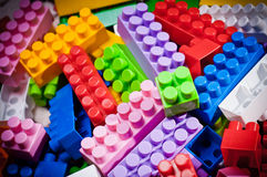 Plastic toy bricks Royalty Free Stock Photo