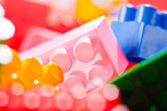 Plastic toy bricks Royalty Free Stock Image
