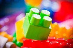 Plastic toy bricks Royalty Free Stock Photos