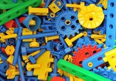 Plastic toy bricks Stock Photos