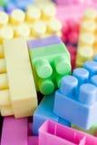 Plastic toy bricks Stock Photo