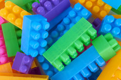 Plastic toy bricks Royalty Free Stock Images