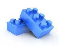 Plastic toy bricks Stock Photo