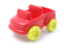 Plastic Toy Car. On White Background stock photos