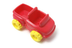 Plastic Toy Car. On White Background royalty free stock photos