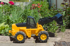 The plastic toy car Royalty Free Stock Photo