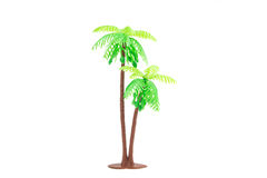 Plastic toy of coconut palm Royalty Free Stock Photography