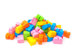 Plastic toy construction Stock Images