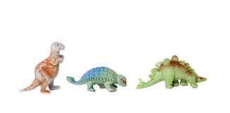 Plastic Toy Dinosaurs Royalty Free Stock Image