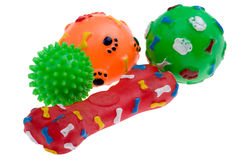 Plastic toy for dog macro. Object on white - Plastic toy for dog royalty free stock photo