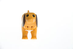 Plastic toy dog Stock Photos