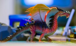 Plastic toy dragon Royalty Free Stock Images