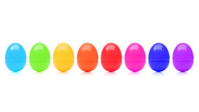 Plastic toy eggs royalty free stock photo