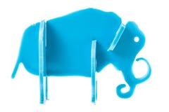 Plastic toy elephant Stock Images