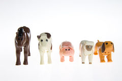 Plastic toy farm animals Royalty Free Stock Photography