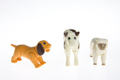 Plastic toy farm animals Royalty Free Stock Image
