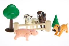 Plastic toy farm animals Royalty Free Stock Image